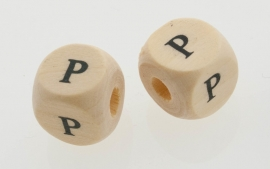 Letterkraal hout letter P