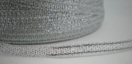 Kerst lint Lurex Zilverkleur - 3mm