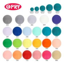 Opry Siliconen kralen 5 stuks 18mm kleur 187