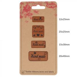 Opry Skai-leren Label Handmade 4 labels