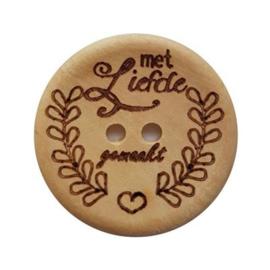 Durable houten knopen: Met liefde gemaakt 30mm -2 stuks-