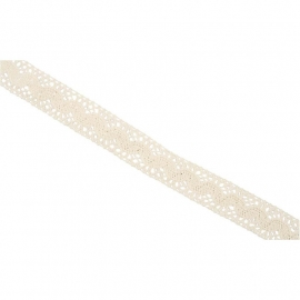 Kanten lint 30 mm 10 meter lengte off-white