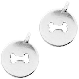 Bedel hondenbot antiek zilver (nikkelvrij)