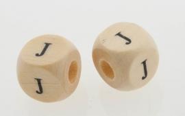 Letterkraal hout letter J
