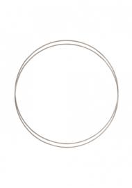 Go Handmade Metalen ringen set (2pc) kleur: Mushroom - 25cm