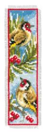 Bladwijzer Vogels in winter aida set van 2