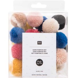 Rico Yarn Pompon set Natural