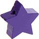Houten kraal Mini-ster paars effen ''babyproof''