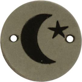 Durable Leren labels rond 2cm - Moon per 2 stuks