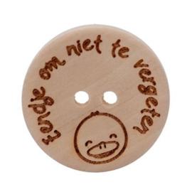 Durable houten knopen: Eendje om nooit te vergeten 25mm -3 stuks-