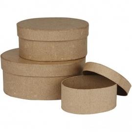 Ovale dozen, l: 11,5+15+18 cm, 3 assorti