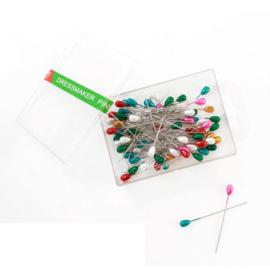Parelkopspelden gekleurd - Dressmaker pins