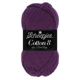 Cotton 8 Scheepjes 721 Donkerpaars