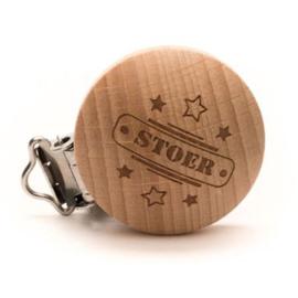 Durable houten speenclip houtkleurig -Stoer- 2 stuks