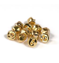 Belletjes goudkleurig 10mm - 12 stuks - mooie kwaliteit