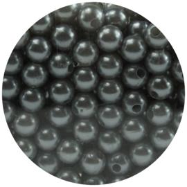 30 Parelkralen acryl Zilver - 8mm