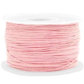 Wax koord 1 mm Powder Pink