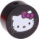 Houten kraal rond ''Hello Kitty'' zwart ''babyproof''