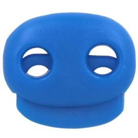 Koordstopper tweegaats ±22x20mm 276 Blauw