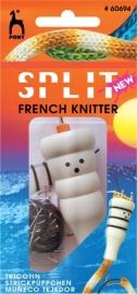 Pony Split French Knitter - Haak om een koord heen