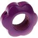 Houten bloemkraal paarsfuchsia  ''babyproof''