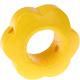 Houten bloemkraal geel  ''babyproof''