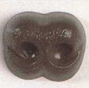 Hond neus 18 mm bruin