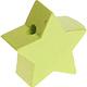 Houten kraal Mini-ster lime effen ''babyproof''