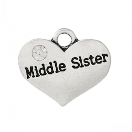 Bedel hart met middle Sister 17mm