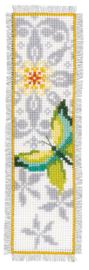 Bladwijzer Vlinder en Bloemen aida set van 2