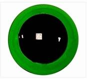 Veiligheidsoogjes 8 mm groen transparant