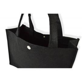 Vilten tas, handig formaat! Zwart