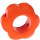 Houten bloemkraal oranje  ''babyproof''