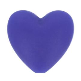 Opry siliconen kralen hartjes 5 stuks kleur 183