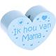 Houten kraal ''ik hou van mama'' babyblauw ''babyproof''