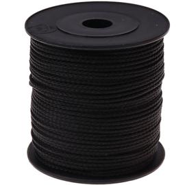 Nylon/polyester koord zwart