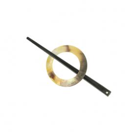 Vestsluiting parelmoer 50mm