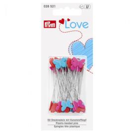 Prym Love spelden met hartjes en vlinders