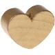 Houten kraal Mini-hart goud effen ''babyproof''