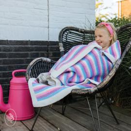 Pakket voor Durable Velvet deken: Happy Unicorn Stripes Blanket