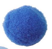 Pompom 30mm Midden blauw
