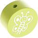 Houten kraal vlinder lime ''babyproof''