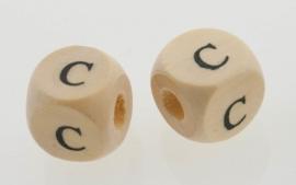 Letterkraal hout letter C