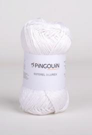 Pingouin Esterel  3 Lurex Blanc