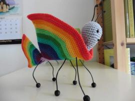 Gestileerde regenboogvlinder van Patricia