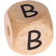 Houten Letterkraal gegraveerd 10mm  - B -