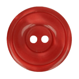 Bottoni Italiani  plastic knoopje 12,5 mm rood 722