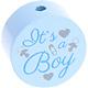 Houten kraal ''It's a Boy'' babyblauw ''babyproof''