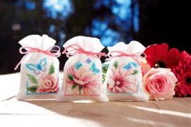 Geurzakje vlinders en bloemen nr 2 set van 3