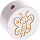 Houten kraal Glitter Vlinder